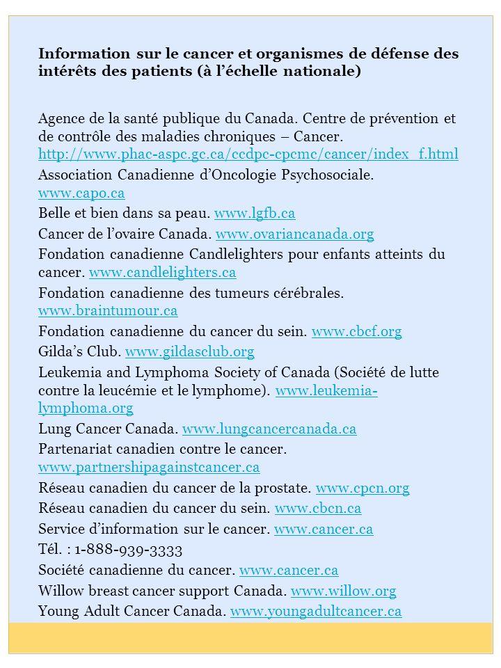 Association Canadienne d'Oncologie Psychosociale. www.capo.ca