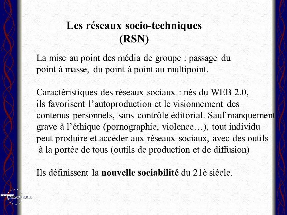 Les réseaux socio-techniques (RSN)