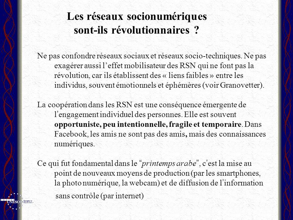 Les réseaux socionumériques sont-ils révolutionnaires