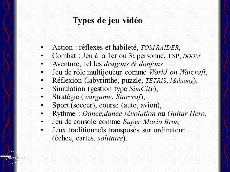 Types de jeu vidéo Action : réflexes et habileté, TOM RAIDER,