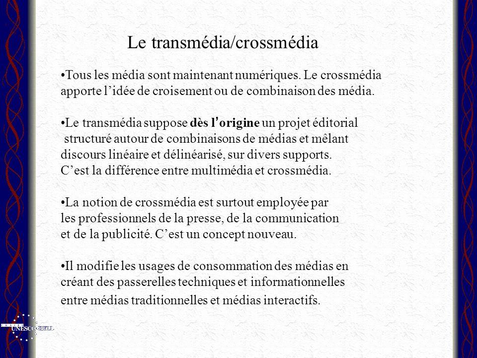 Le transmédia/crossmédia