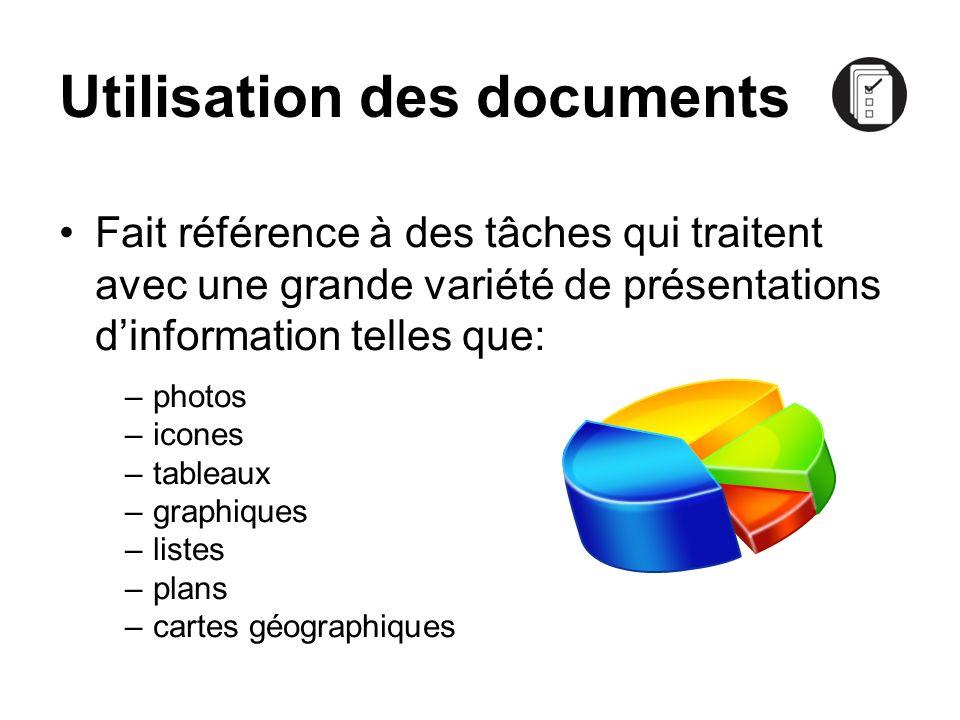 Utilisation des documents
