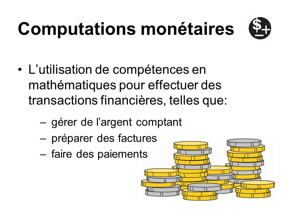 Computations monétaires