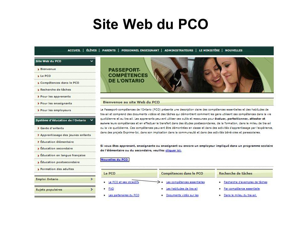 Site Web du PCO