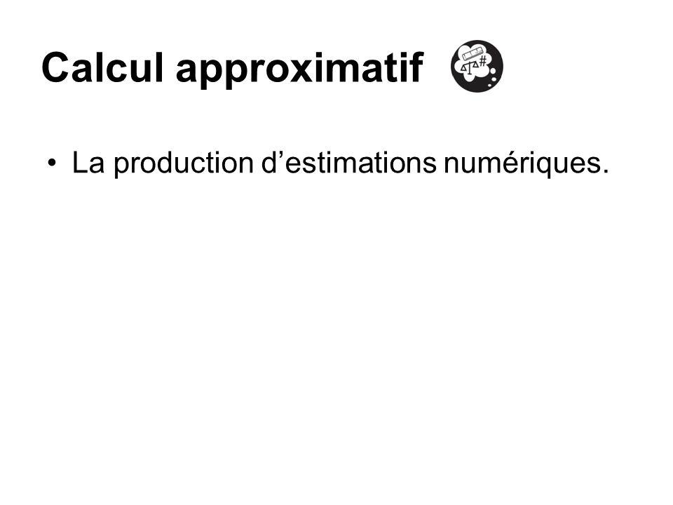 Calcul approximatif La production d'estimations numériques.