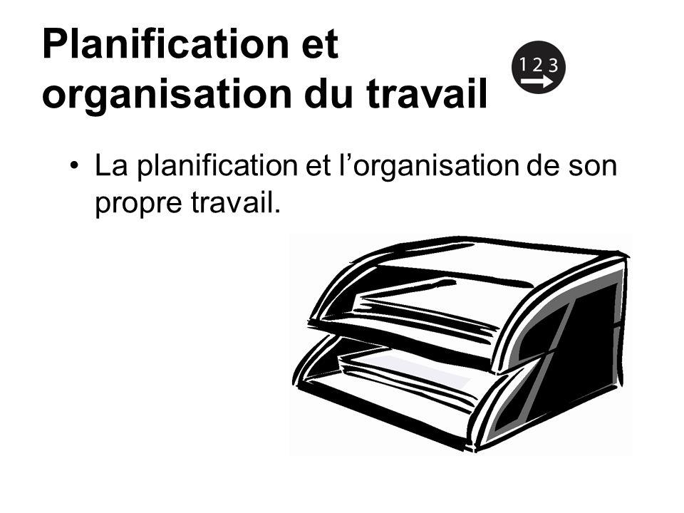 Planification et organisation du travail