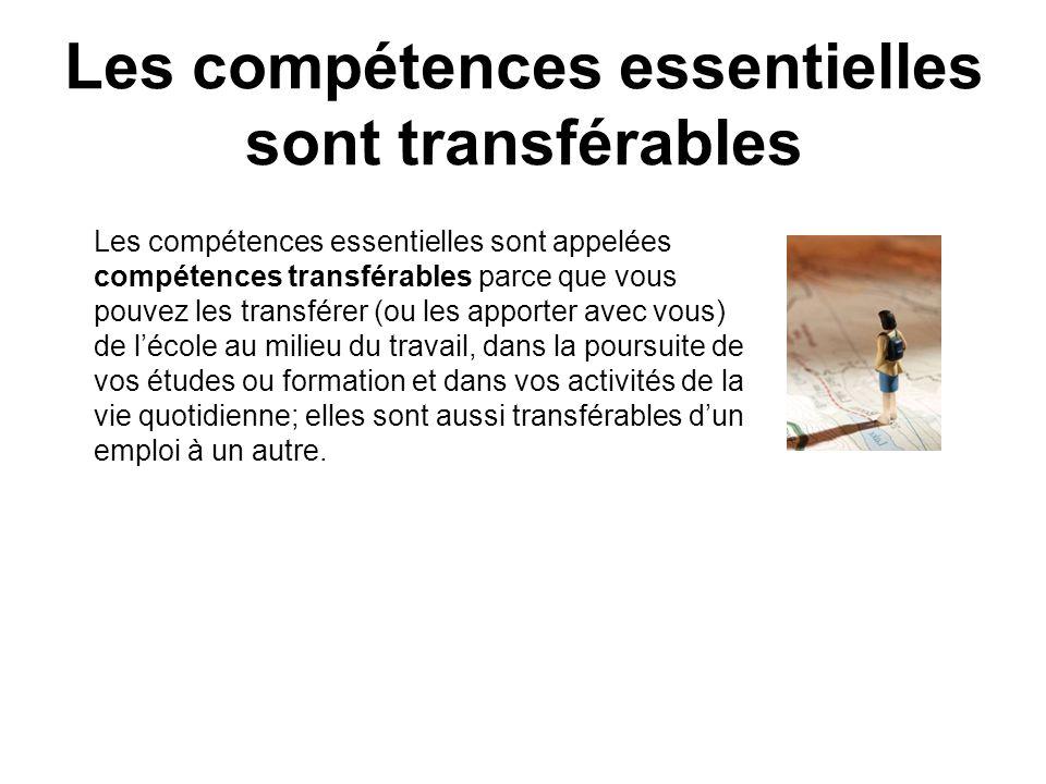 Les compétences essentielles sont transférables