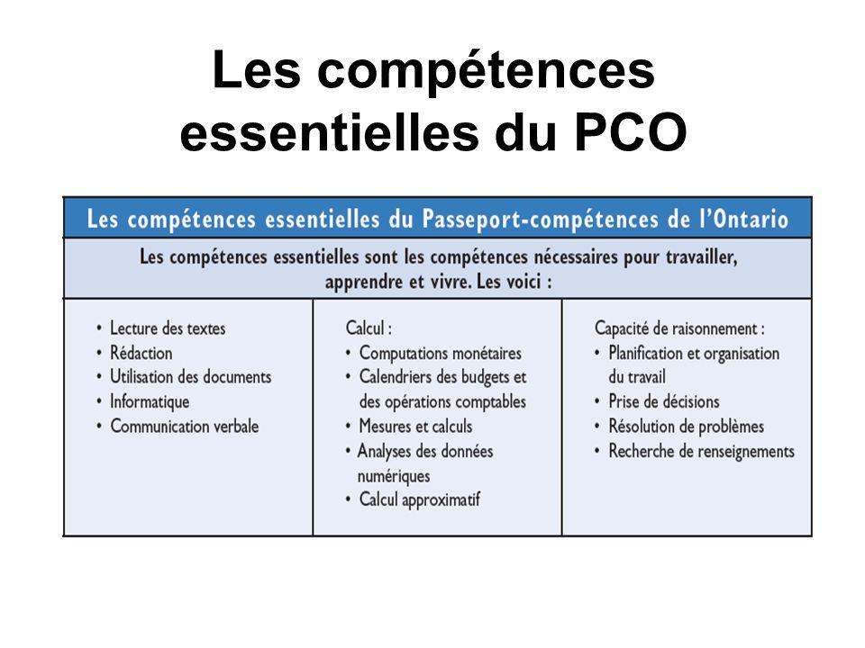 Les compétences essentielles du PCO