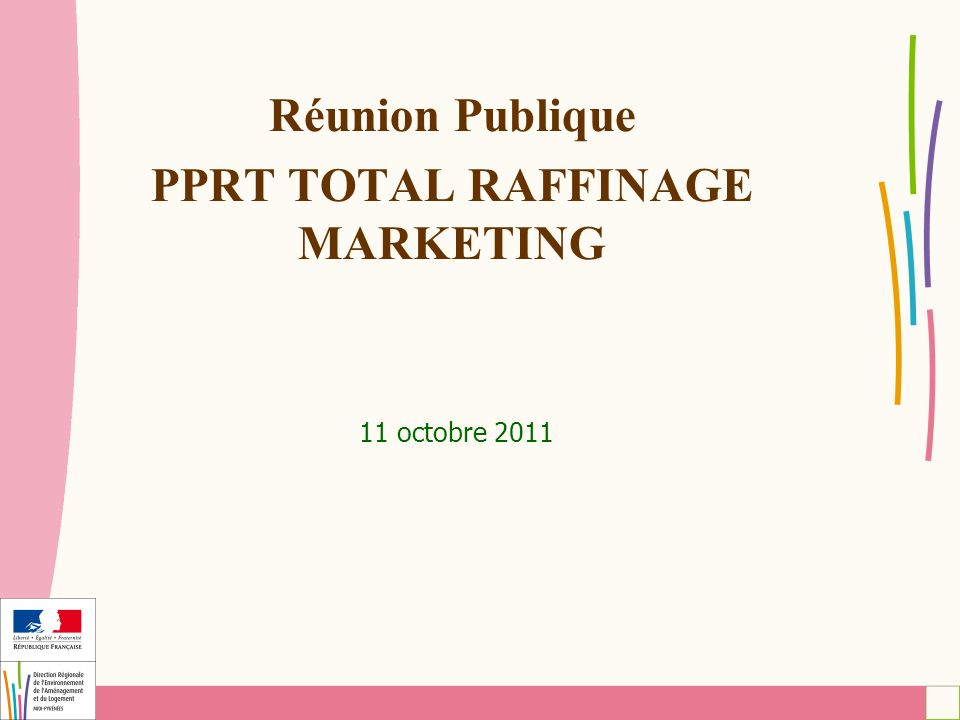 Réunion Publique PPRT TOTAL RAFFINAGE MARKETING 11 octobre 2011