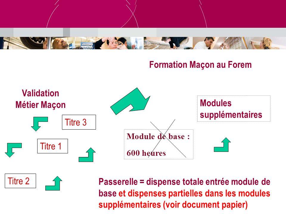 Validation Métier Maçon