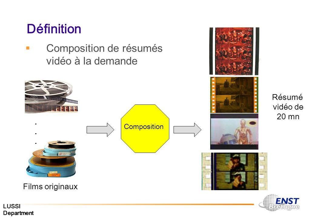 Définition Composition de résumés vidéo à la demande Résumé vidéo de