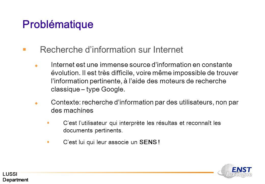 Problématique Recherche d'information sur Internet