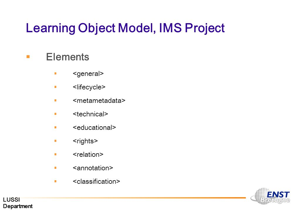 Learning Object Model, IMS Project