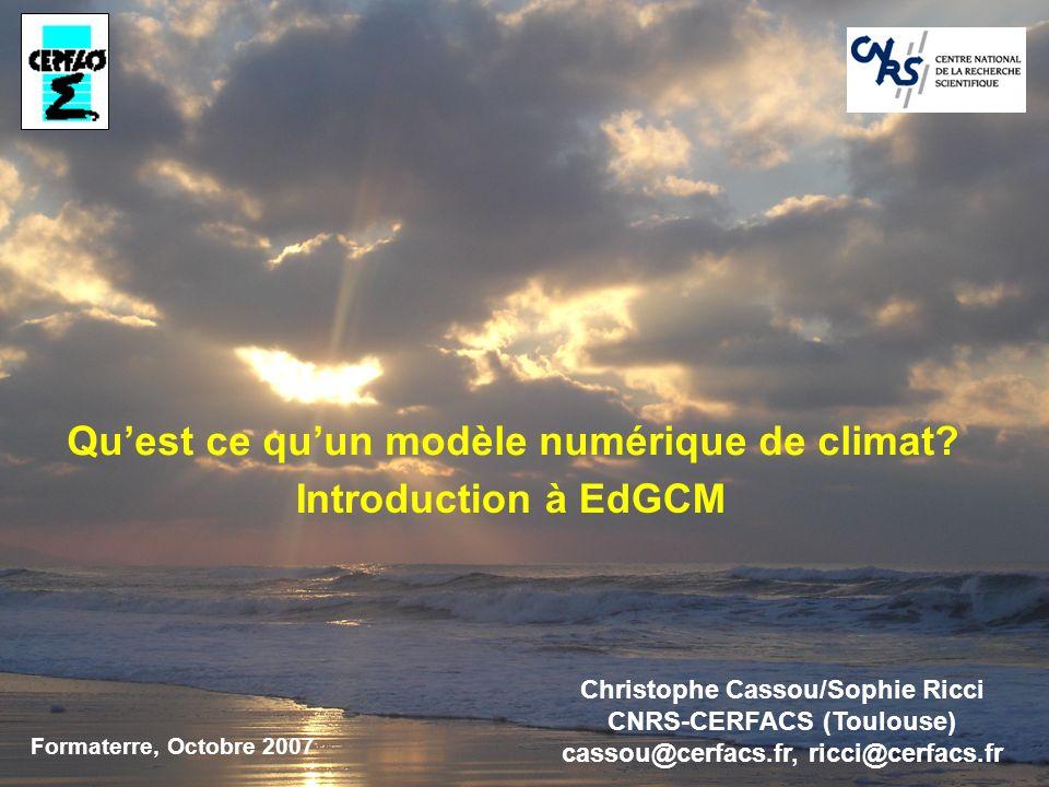 Qu'est ce qu'un modèle numérique de climat Introduction à EdGCM