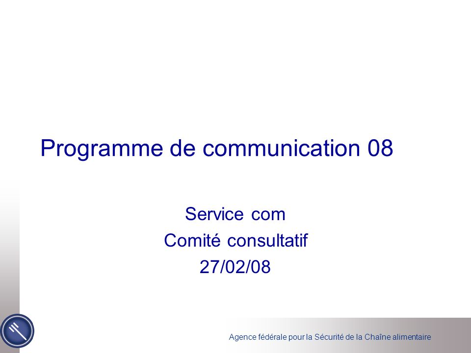 Programme de communication 08