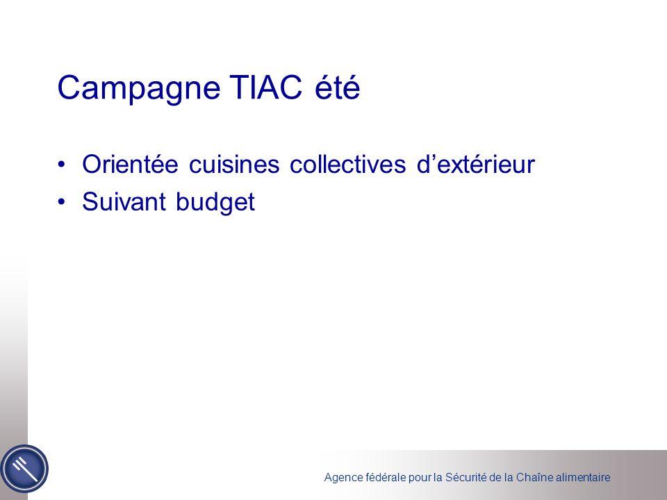 Campagne TIAC été Orientée cuisines collectives d'extérieur