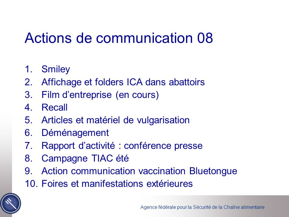 Actions de communication 08