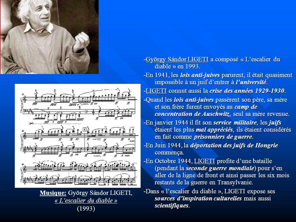 -György Sándor LIGETI a composé « L'escalier du diable » en 1993.