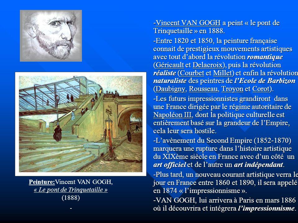 -Vincent VAN GOGH a peint « le pont de Trinquetaille » en 1888.