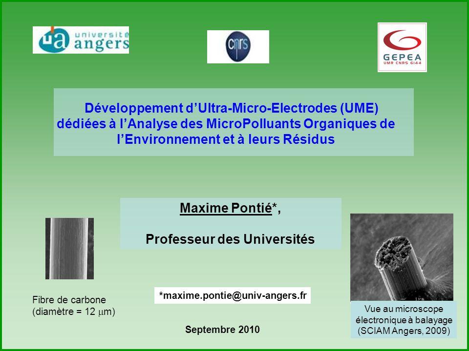 Développement d'Ultra-Micro-Electrodes (UME)