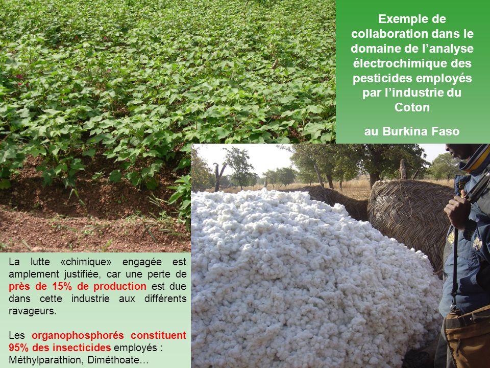 Exemple de collaboration dans le domaine de l'analyse électrochimique des pesticides employés par l'industrie du Coton