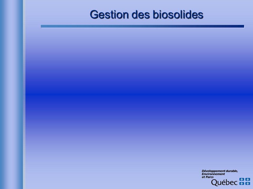 Gestion des biosolides