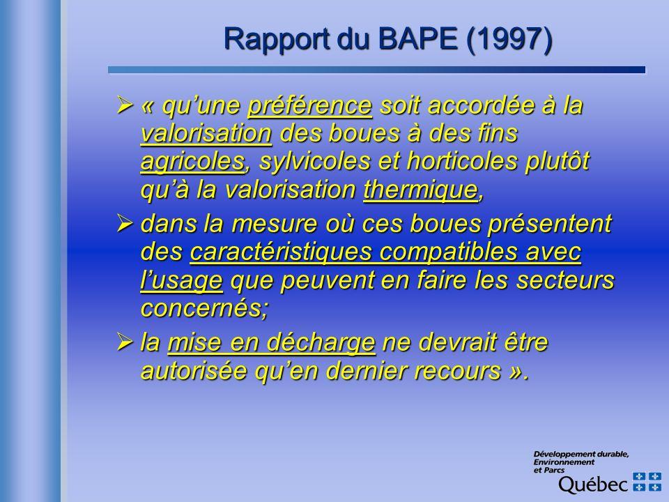 Rapport du BAPE (1997)