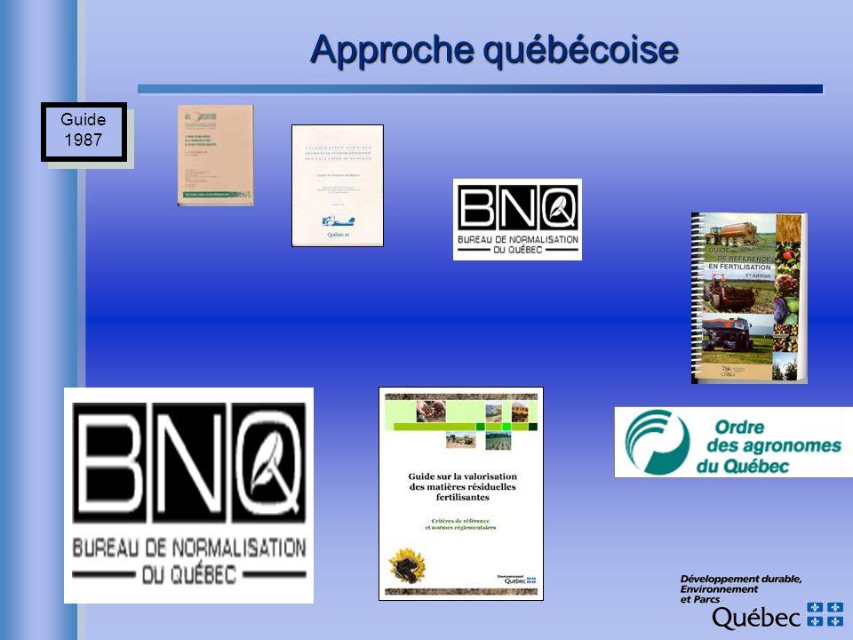 Approche québécoise Guide 1987