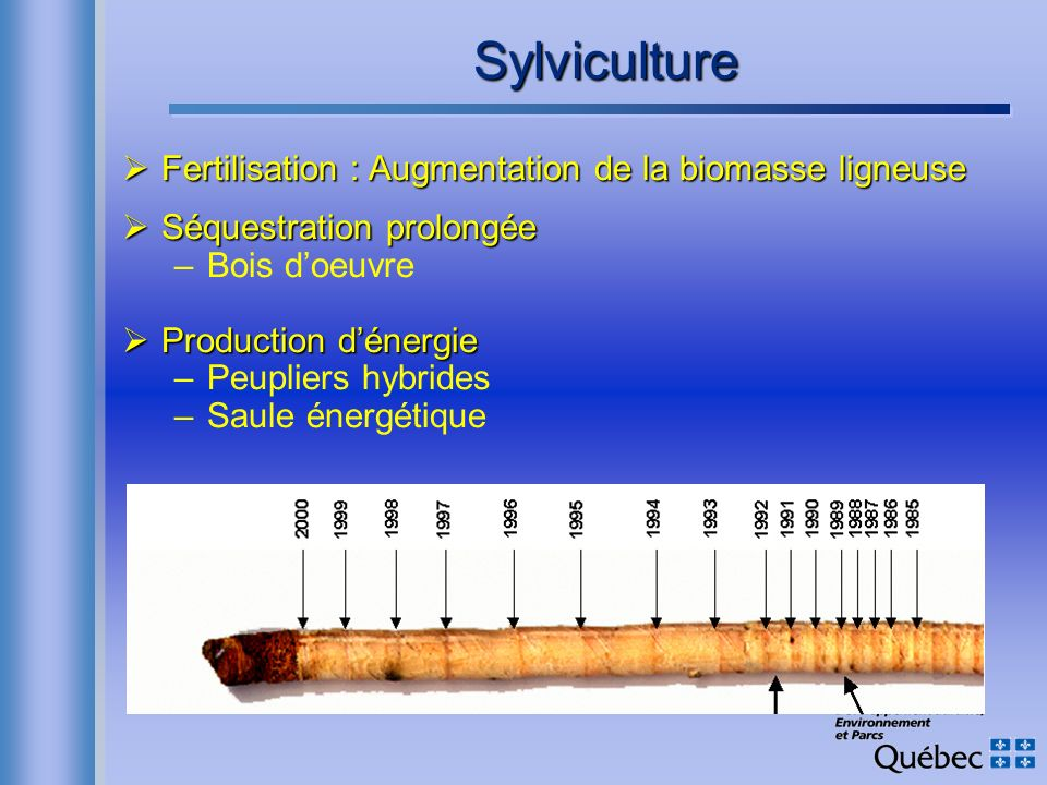 Sylviculture Fertilisation : Augmentation de la biomasse ligneuse