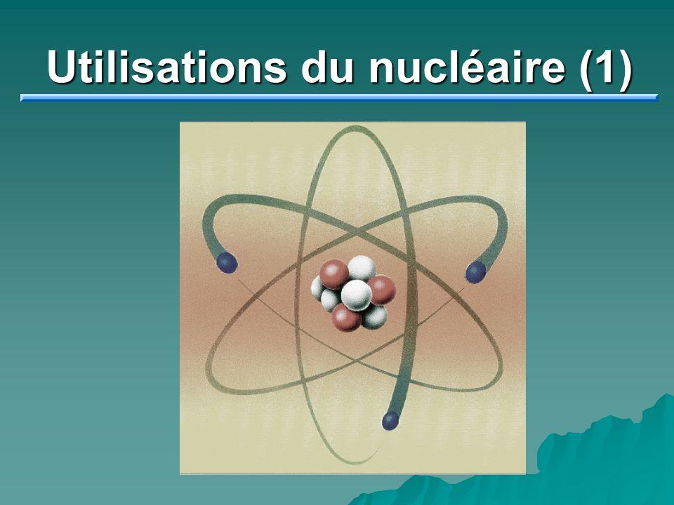 Utilisations du nucléaire (1)