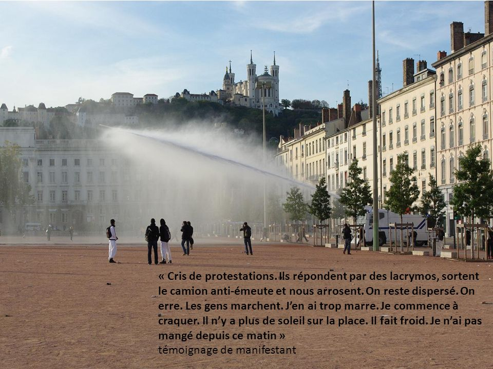 « Cris de protestations