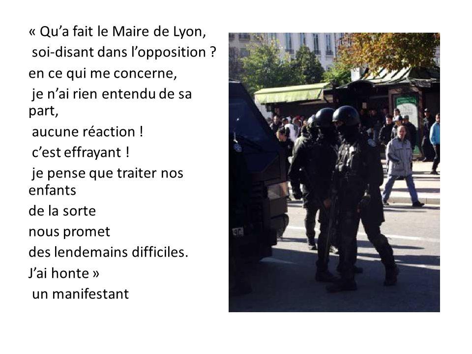 « Qu'a fait le Maire de Lyon,