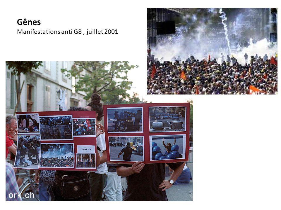 Gênes Manifestations anti G8 , juillet 2001