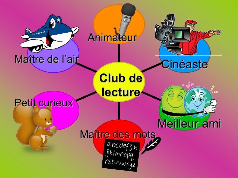 Cinéaste Club de lecture Meilleur ami Animateur Maître de l'air