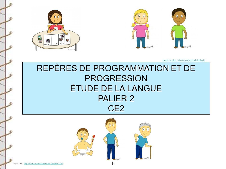 REPÈRES DE PROGRAMMATION ET DE PROGRESSION ÉTUDE DE LA LANGUE PALIER 2
