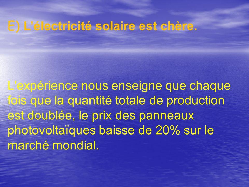 E) L'électricité solaire est chère.