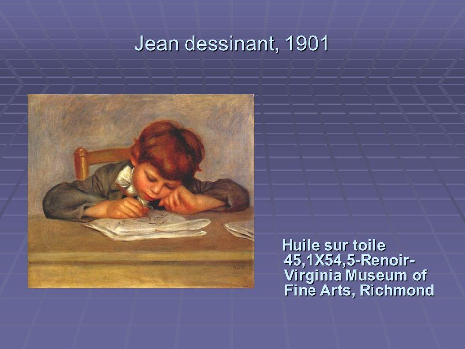 Jean dessinant, 1901 Huile sur toile 45,1X54,5-Renoir- Virginia Museum of Fine Arts, Richmond
