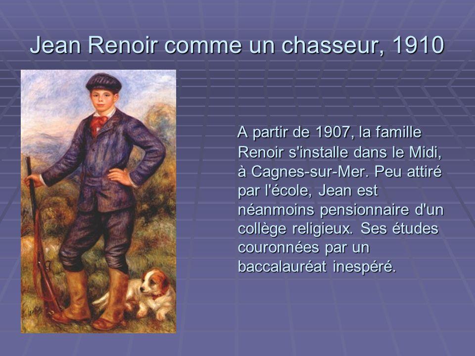 Jean Renoir comme un chasseur, 1910