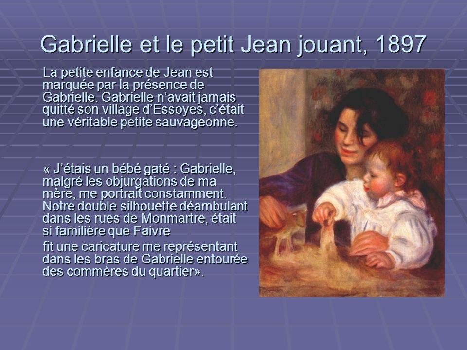 Gabrielle et le petit Jean jouant, 1897