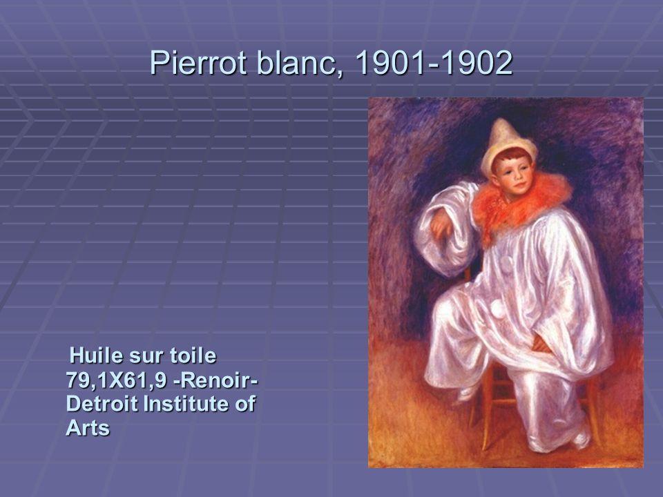 Pierrot blanc, 1901-1902 Huile sur toile 79,1X61,9 -Renoir- Detroit Institute of Arts