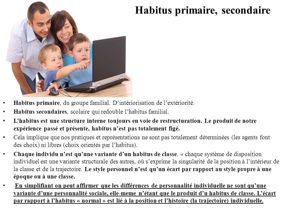 Habitus primaire, secondaire
