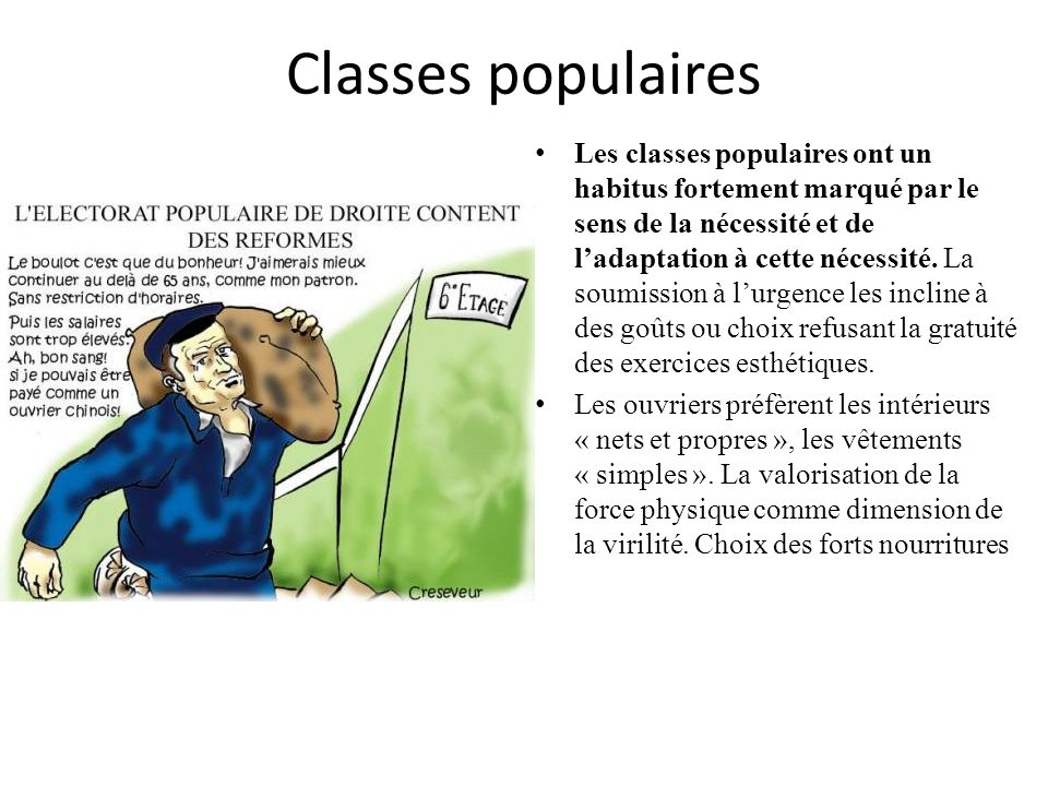 Classes populaires