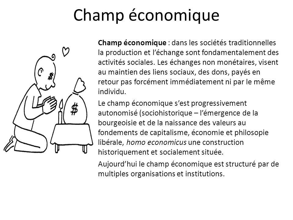 Champ économique