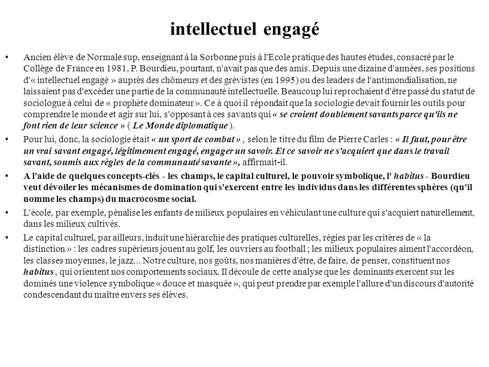 intellectuel engagé