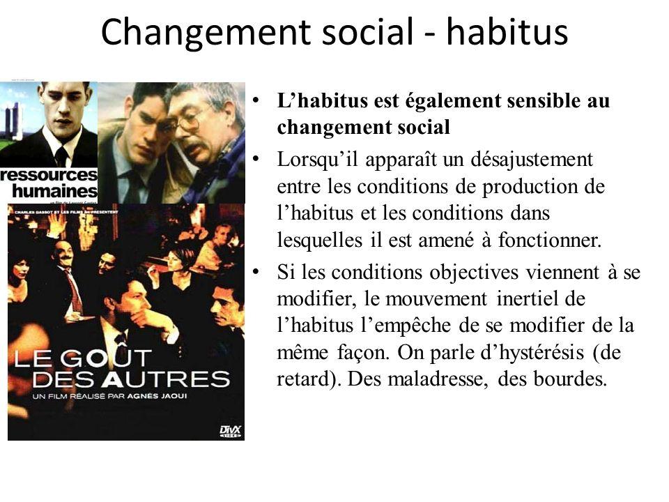 Changement social - habitus