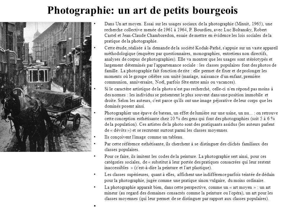 Photographie: un art de petits bourgeois