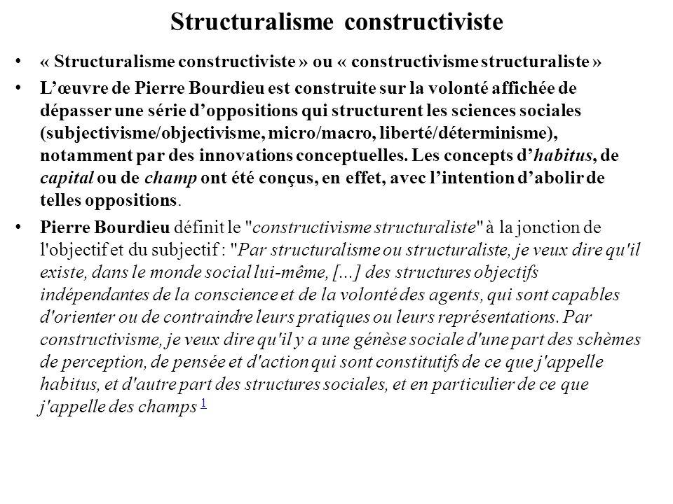 Structuralisme constructiviste