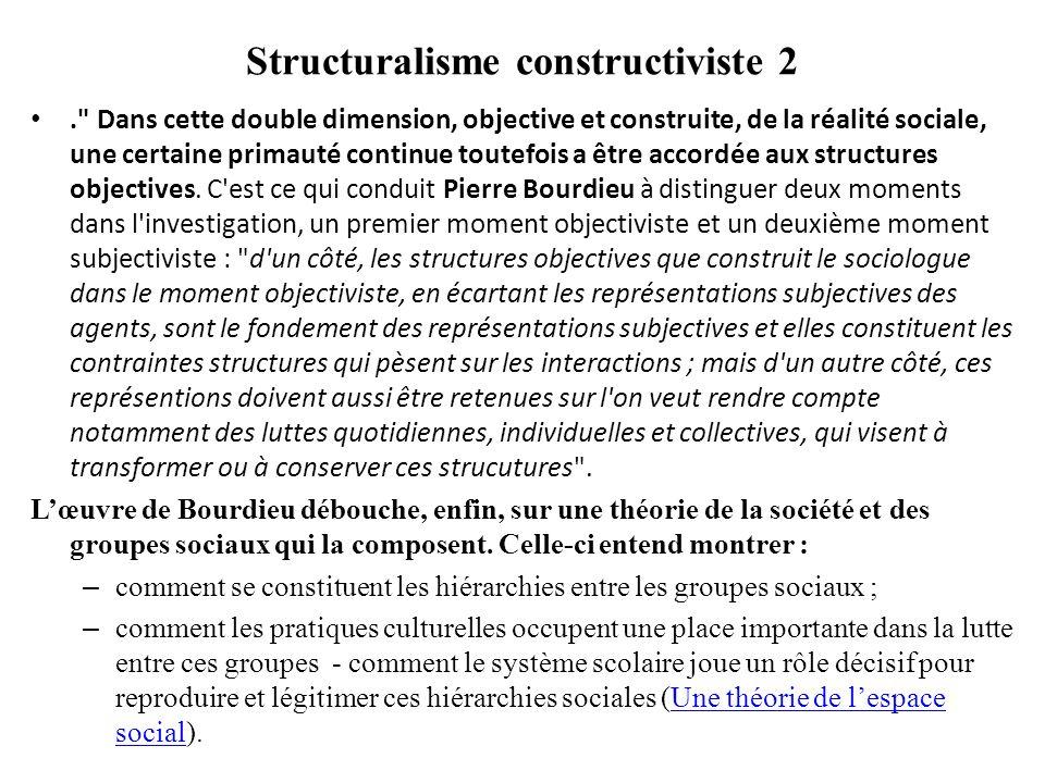 Structuralisme constructiviste 2