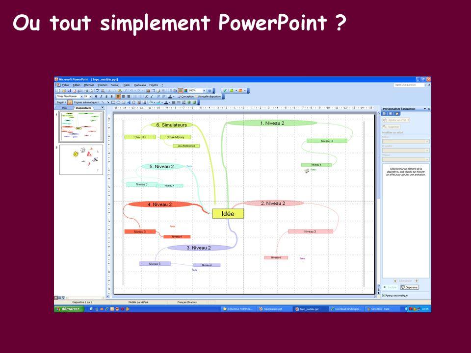 Ou tout simplement PowerPoint