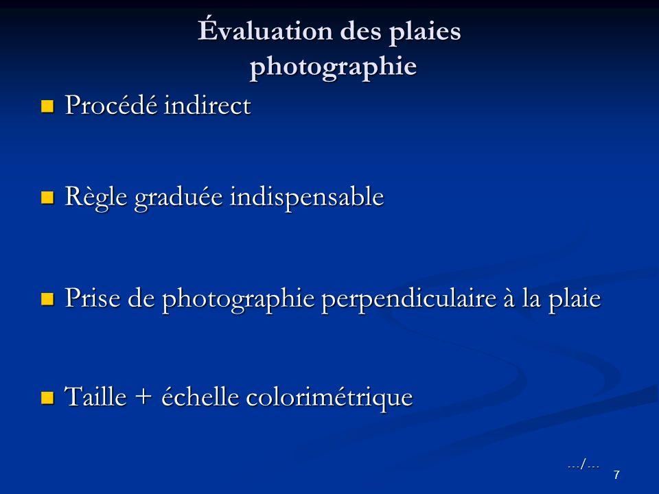 Évaluation des plaies photographie
